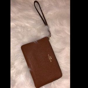 Authentic Brown Coach Wristlet Wallet